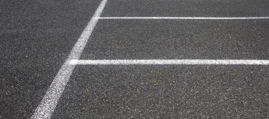 parkeerplaats asfalt